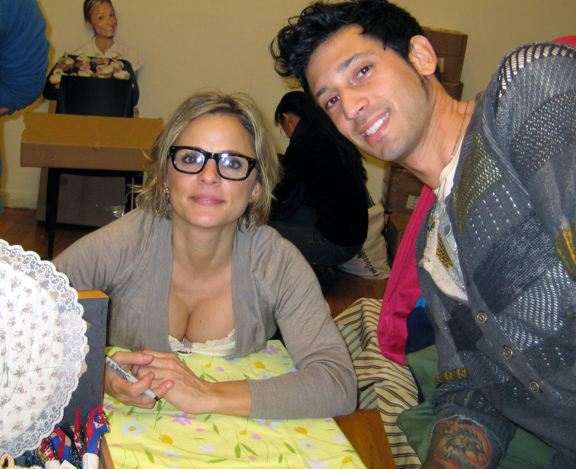 Joshua Katcher & Amy Sedaris at Bust Magazine Holiday Craftacular