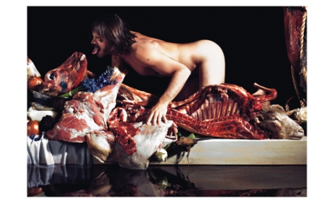 A man and his meat, from Purple.fr