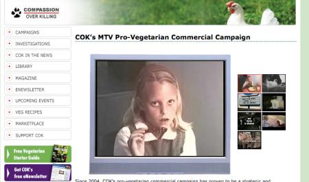 Compassion Over Killing's MTV Campaign