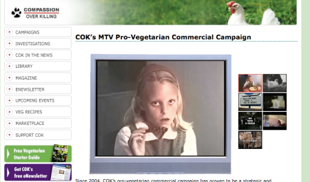 Compassion Over Killing's MTV Campaign